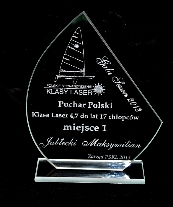 1 miejsce Pucharu Polski w klasie Laser 4.7 2013