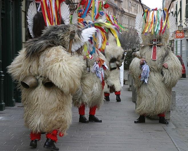 Kurenti z miasta Ptuj, fot. Wiki