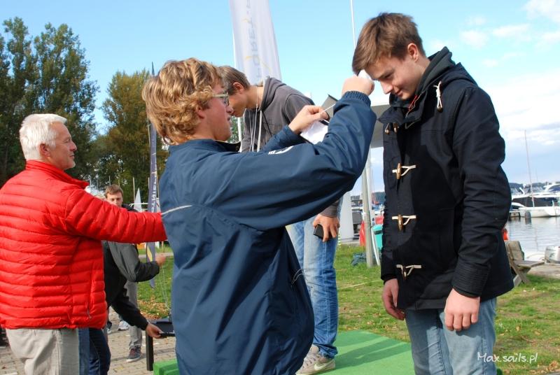 Dekoracja - Mistrzostwa Warszawy Juniorów 2013, Laser Standard