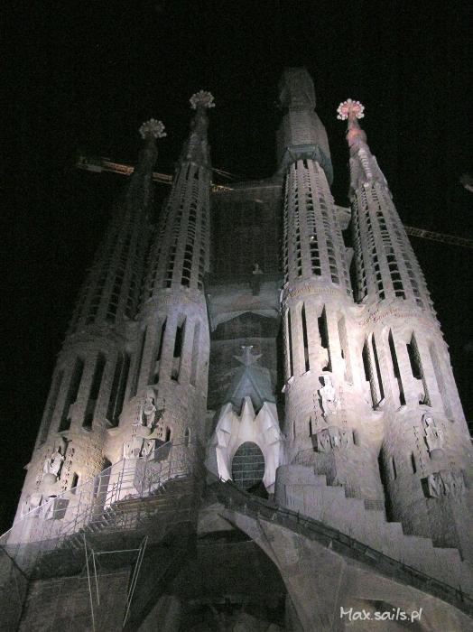 Barcelona nocą..